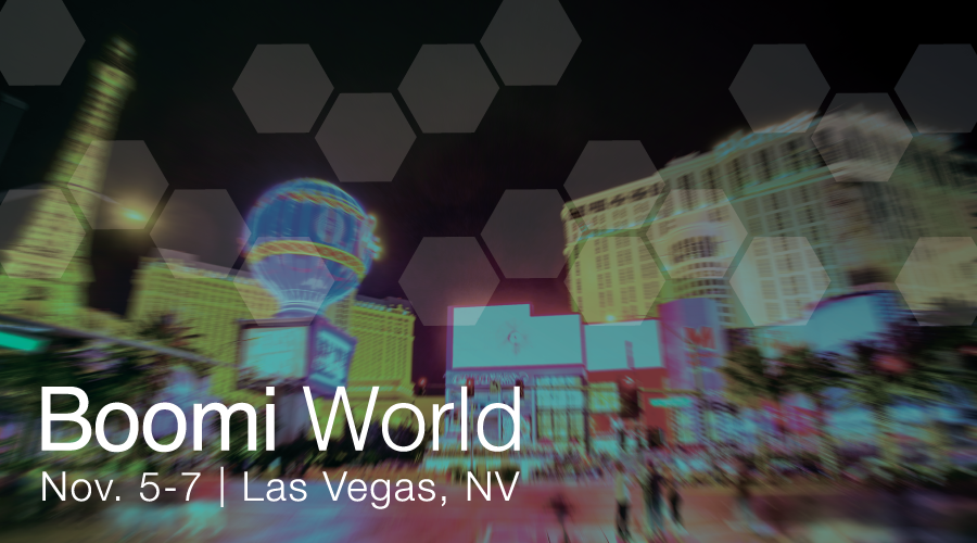 Boomi World 2018, background image of Las Vegas
