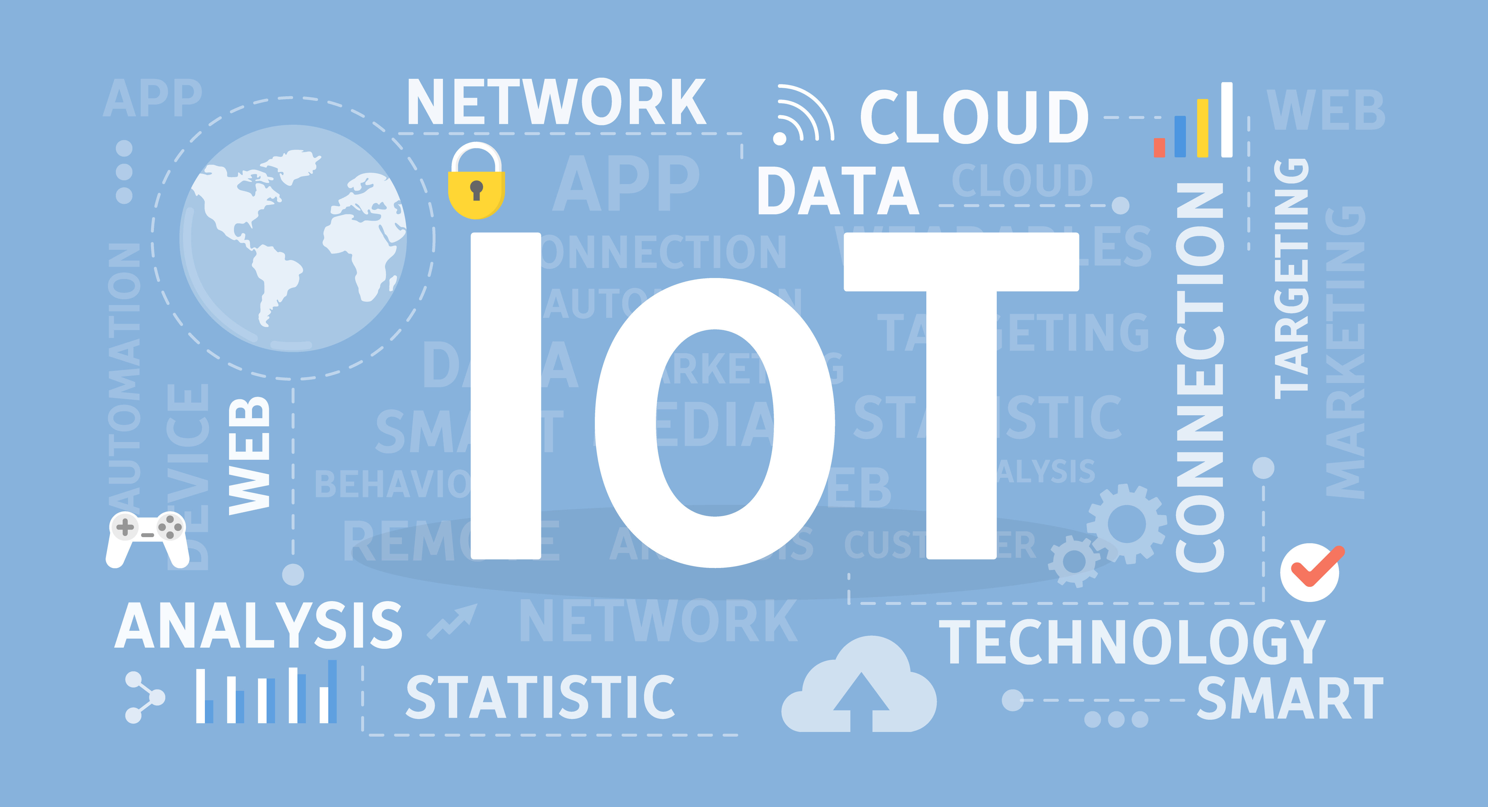 Internet of things concept illustration. Idea of cloud, technology and home.