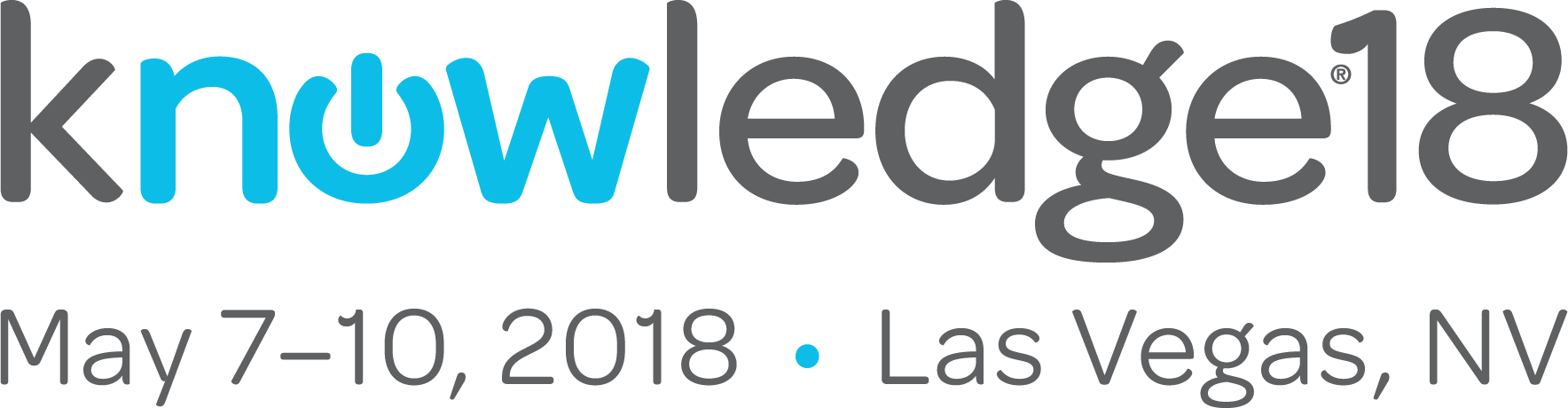 Logo for ServiceNow conference, Knowledge18