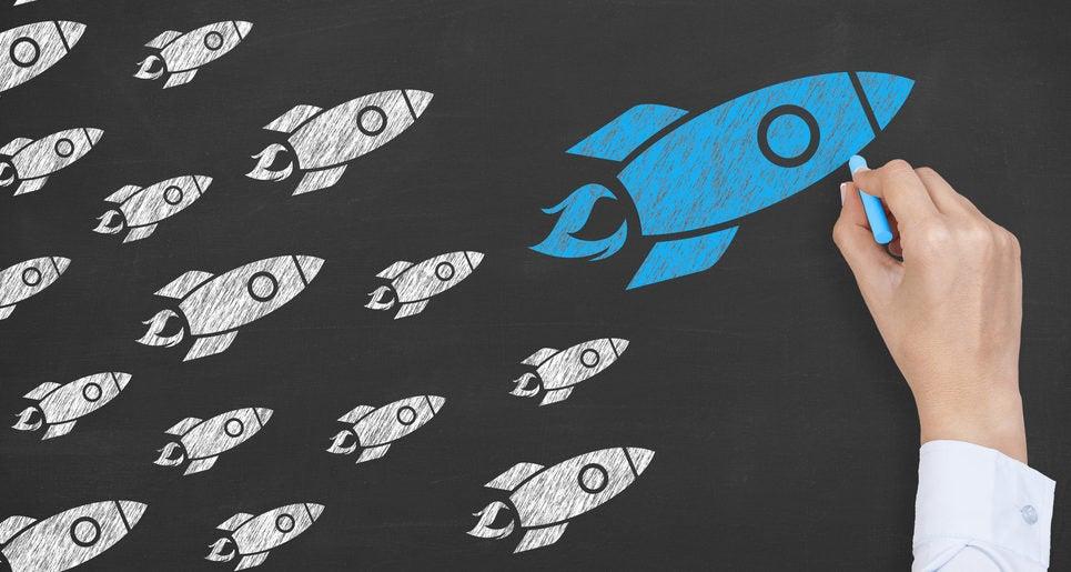 Rocket Leadership Concept on Blackboard