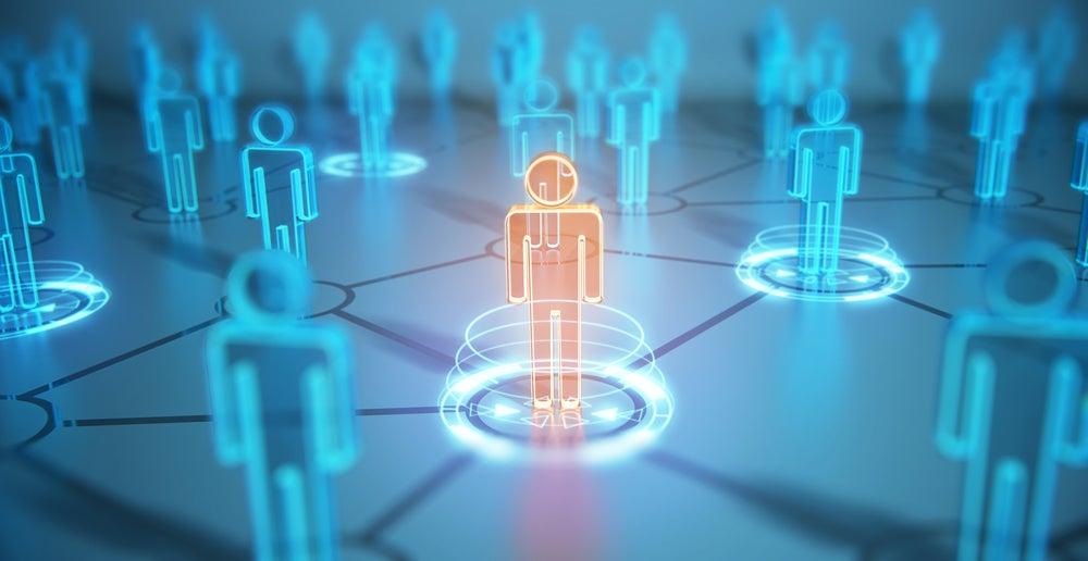 Network of people, digital illustration